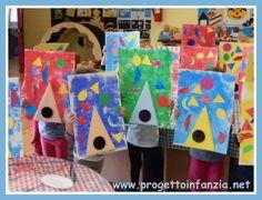 come abbinare arte e forme geometriche nella scuola dell'infanzia esplorando i quadri di August Herbin : un laboratorio a cura dello staff di www.progettoinfanzia.net