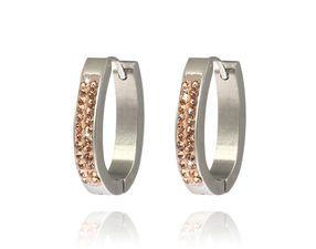 Náušnice ovál dva pruhy chirurgická ocel #earrings #šperky #bižuterie #jewelry