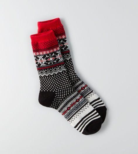 Black AEO Crew Socks