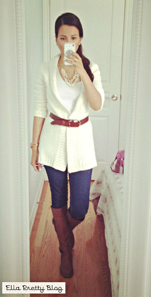 Ella Pretty: Belted Sweater & Boots