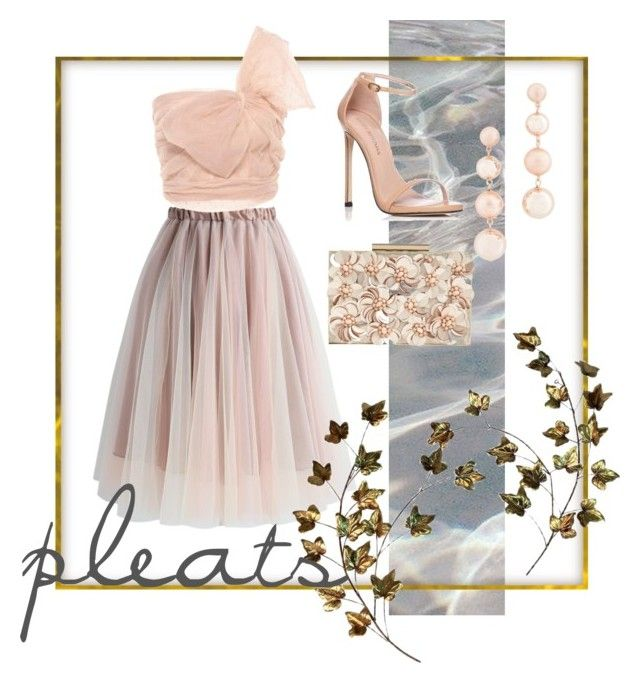 """pleats"" by ipeeks on Polyvore featuring Chicwish, RED Valentino, Stuart Weitzman, Phase Eight and Rebecca Minkoff"
