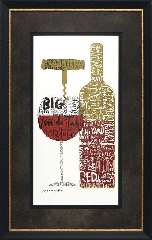 North American Art Exquisite Red by Susie Pilgrim Waters Wholesale Framed Wine Art Print