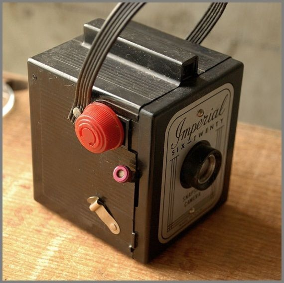 Cameras of the 20th century. Imperial Series was the dream of most American people of the 1950s. This is the Imperial Six-Twenty snapshot camera, one or the first colored cameras that was made in the USA.: Vintage Camera, Camers Cameras, Photographers Camera, Colors Camera, Snapshot Camera, Radios Camera