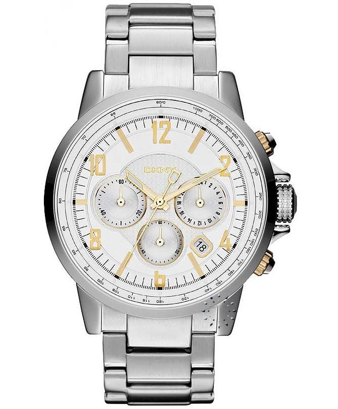 DKNY Chronograph Stainless Steel Bracelet Η τιμή μας: 215€ http://www.oroloi.gr/product_info.php?products_id=33517