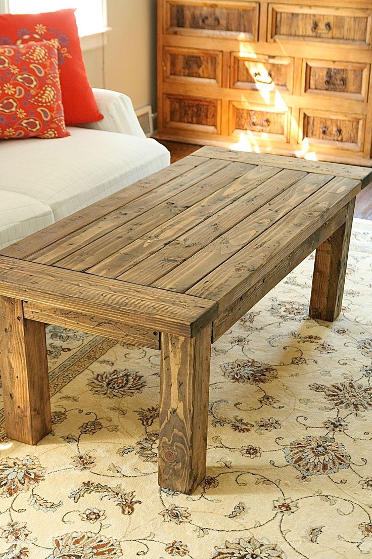 Coffee table do it yourself home projects from ana white for Ana white table bench