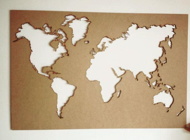 Mapa mundi corte láser en mdf!  #mapa #mapamundi #cortelaser #lasercut…