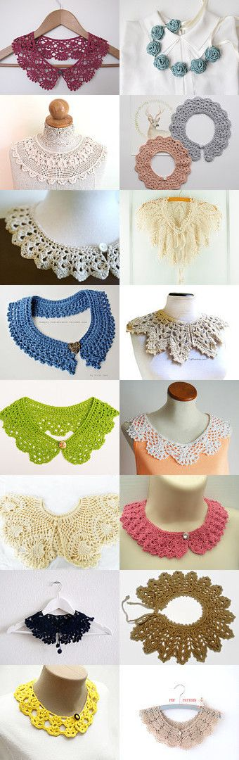 maRRose - CCC: Treasury Tuesday, Crochet Collars by Marianne Dekkers-Roos on Etsy--Pinned+with+TreasuryPin.com