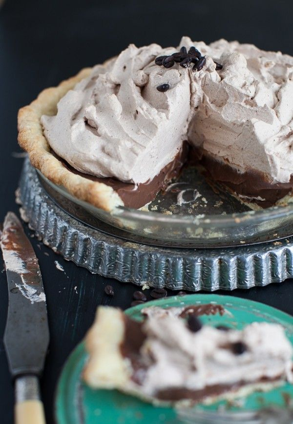 Mocha Pie with Espresso Whipped Cream | Simple Bites