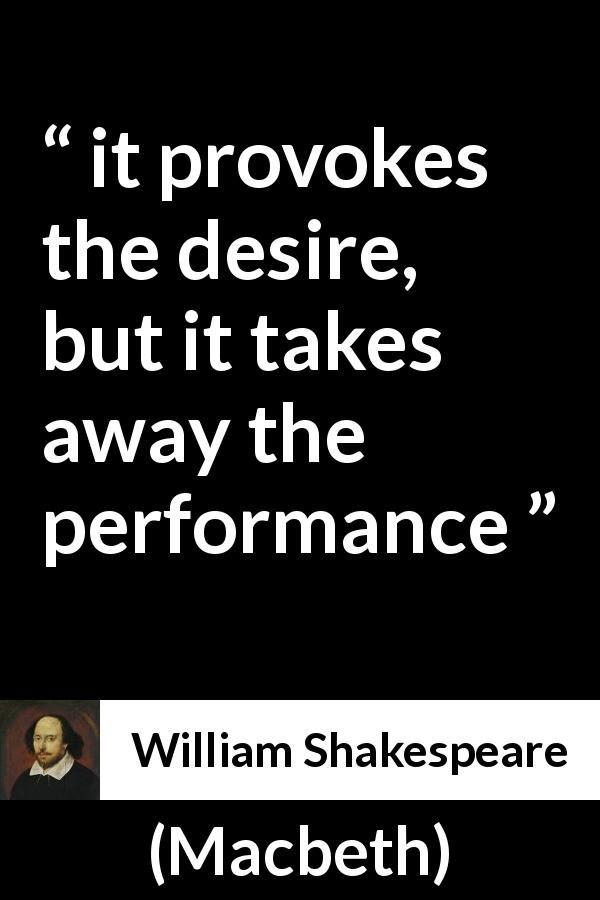 What was Macbeth's desire?no