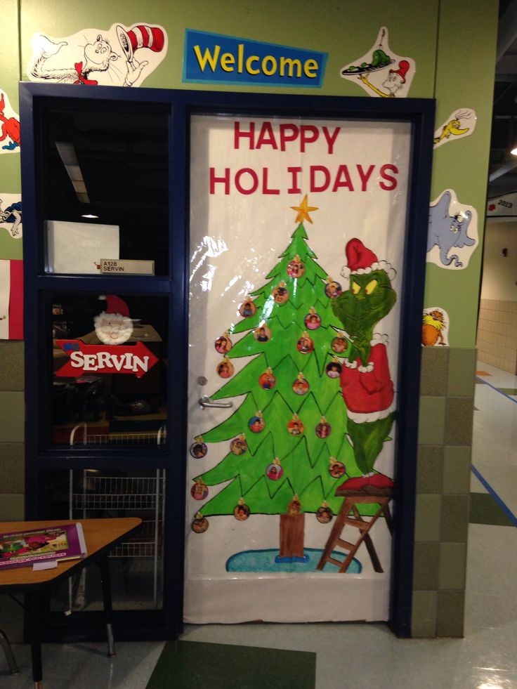 The 25+ best The grinch door decorations for school ideas on ...