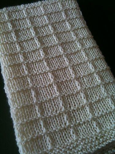 Waffle Knitting Pattern Blanket : Waffle blanket - cute stitch pattern.. Crochet Pinterest Stitches, Rave...