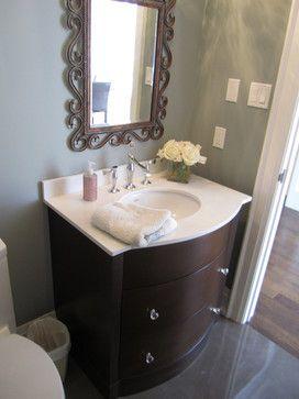 Beautiful Bathrooms - contemporary - powder room - toronto - Signature Custom Cabinets https://www.facebook.com/SignatureCustomCabinets http://www.signaturecustomcabinets.com/