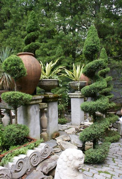 Garden of decorator and landscape designer, Michael Trapp.