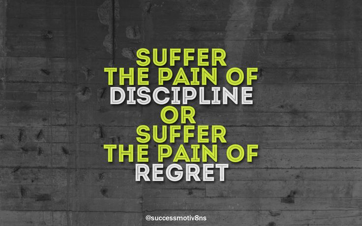Suffer the pain of discipline or suffer the pain of regret. Share it with your friends and family if you agree!  Follow us for more! ❤  #quotestoliveby #instaphoto #lifequote #attraction #inspiration #instagood #happy #followforfollow #follow4follow #like4like #likeforlike #like4follow #shoutout #instadaily #instaquote #instaquotes #success #successquotes #successful #motivation #motivationalquotes #motivational #motivationmonday