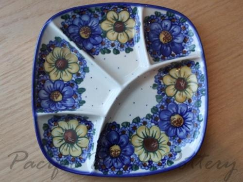 Divided serving dish & 252 best Polish Pottery images on Pinterest | Polish pottery ...