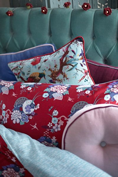 Vibrant, Eastern-influenced cushions by Carolyn Donnelly Eclectic