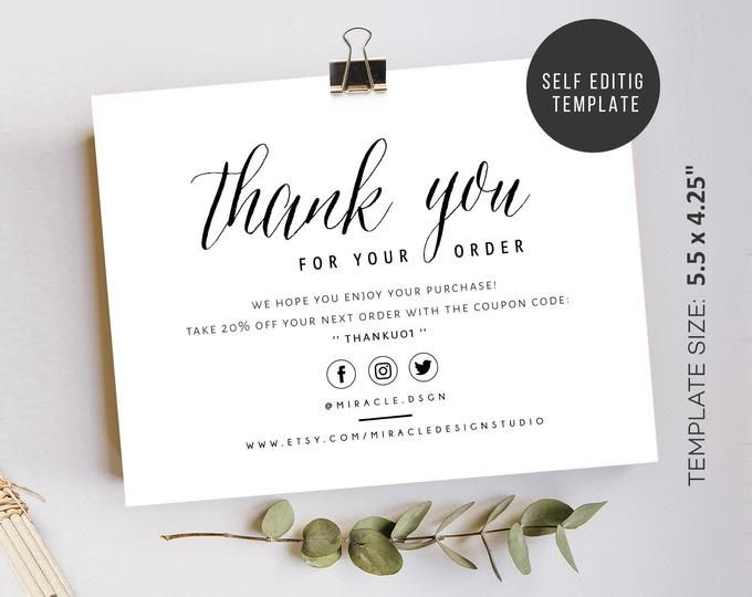 Review Cards Feedback Cards Packaging Inserts For Etsy Sellers Online Sellers Instant Download Love Your Order 5 Stars Thank You Card Design Thank You Cards Business Thank You Cards