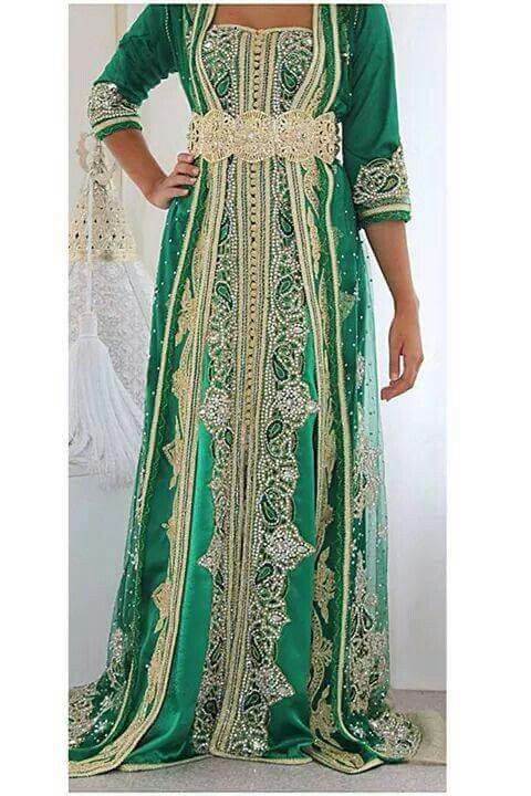 Gold and Green Caftan