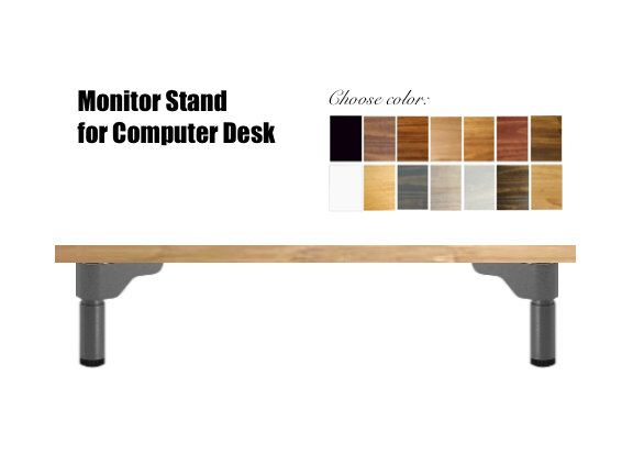 Wood Computer Stand for Desk, Monitor Riser. Multiple Sizes + Colors Available. by goldenrulenyc on Etsy https://www.etsy.com/listing/237346876/wood-computer-stand-for-desk-monitor