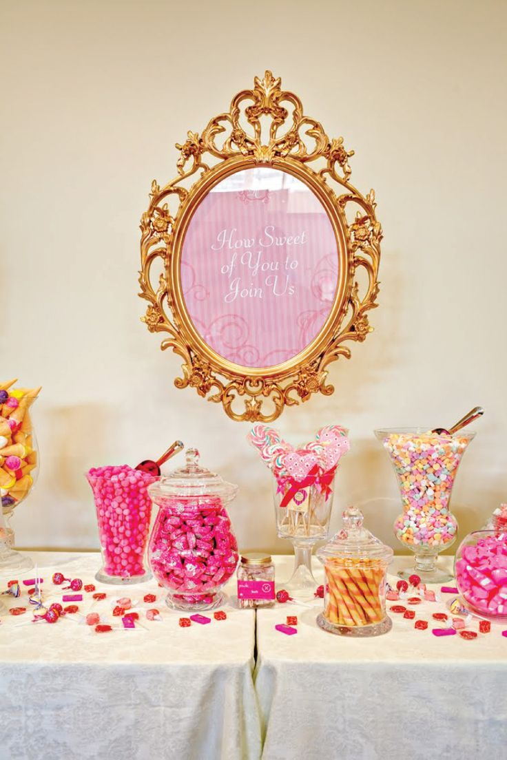 Back to the candy bar suggestion: This would be great considering mirrors are one of the epitomes of fairy tale princess stories!