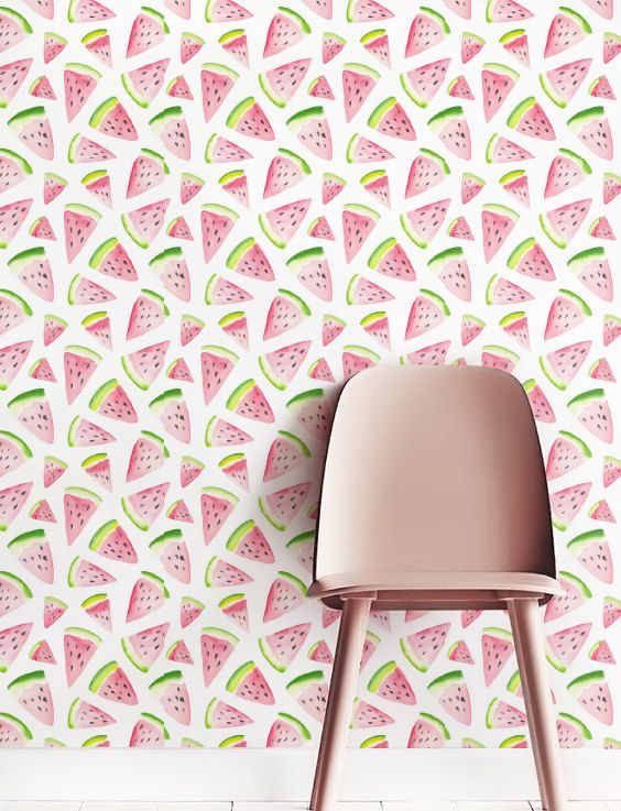 ▼▲▼ Inspired by Nature! ▼▲▼  Doll up your space with our magnificent, removable watercolour watermelon-patterned self-adhesive wallpaper. Our bold and