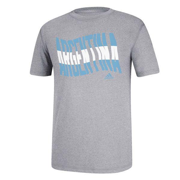 Argentina adidas Country Flag T-Shirt - Ash - $18.99