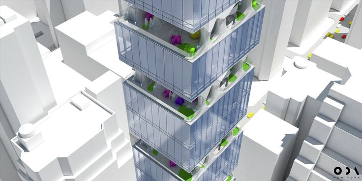 ODA's Manhattan Tower Offers Residents a Slice of Suburbia in the Sky,© ODA New York