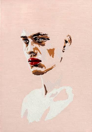 "Saatchi Art Artist Oleksandr Balbyshev; Painting, ""The Pink Boy"" #art"