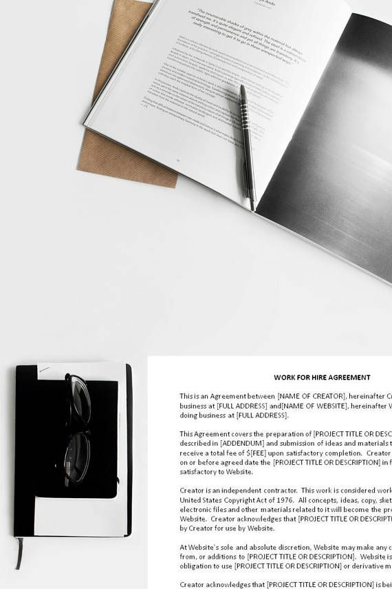 Sample Work for Hire Agreement Work for Hire Template