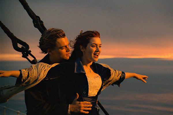 """""""Titanic"""",1997. Rose DeWitt Bukater i Leonardo DiCaprio."""