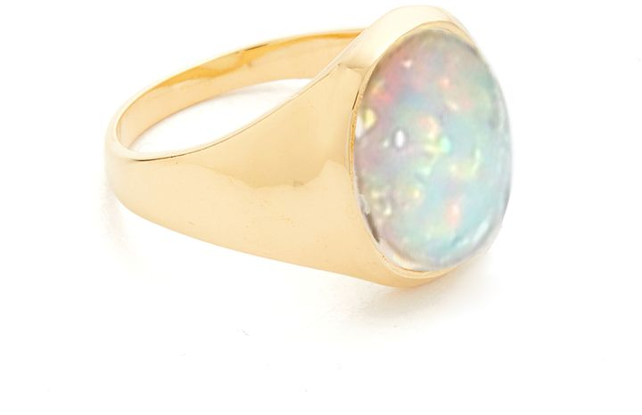 Jacquie Aiche JA Oval Opal Signet Pinky Ring
