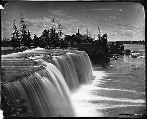 Rideau Falls, Ottawa, ON, 1869 by Musée McCord Museum, via Flickr