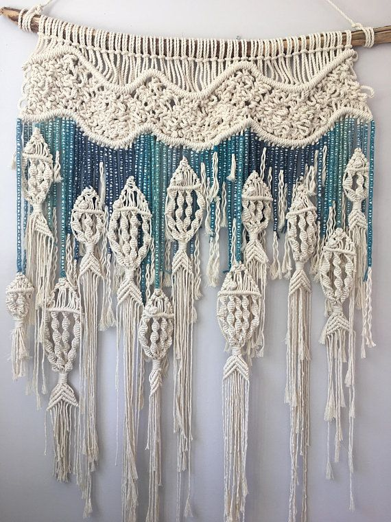Macrame Fish Wall Hanging / Customizable Macrame Tapestry / Fish / Ocean /Fishin…