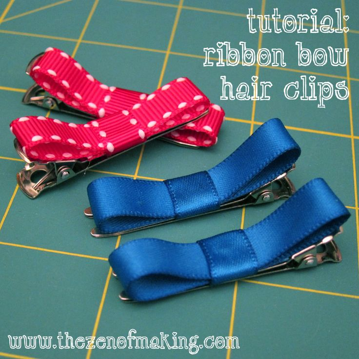 Tutorial: Ribbon Bow Hair Clips from @haley van liew Pierson-Cox