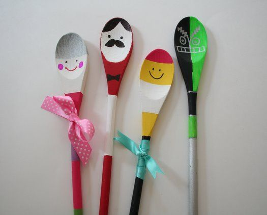 Spoon puppets hmm maybe a princess theme princess - Cheap wooden spoons for craft ...