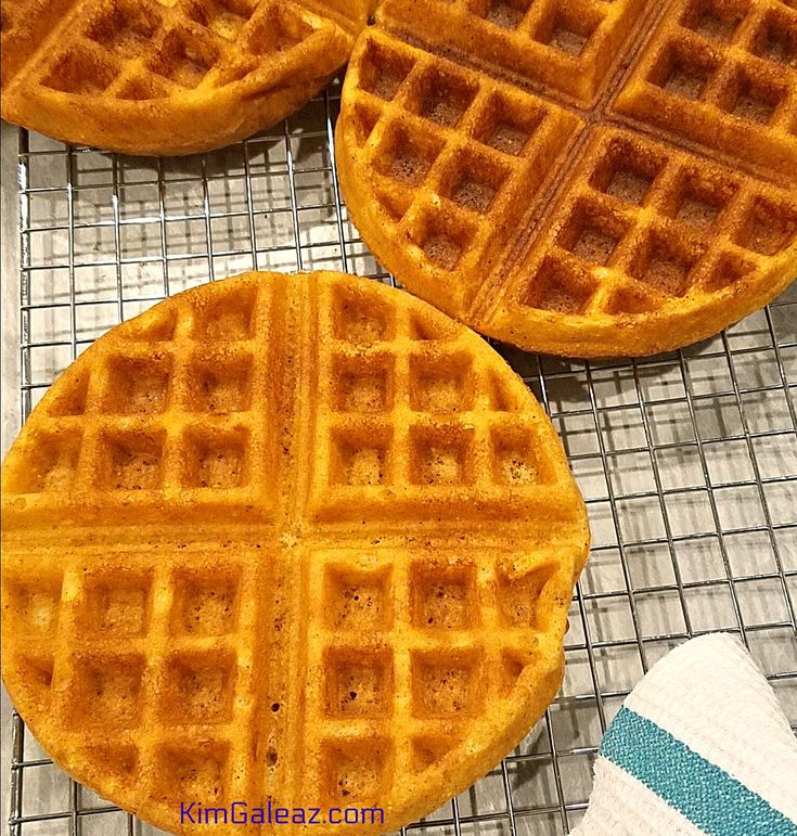 Easy, 100% whole grain cornmeal waffles for breakfast - or breakfast-for-dinner! Make them savory with chipotle and ancho chile powders.