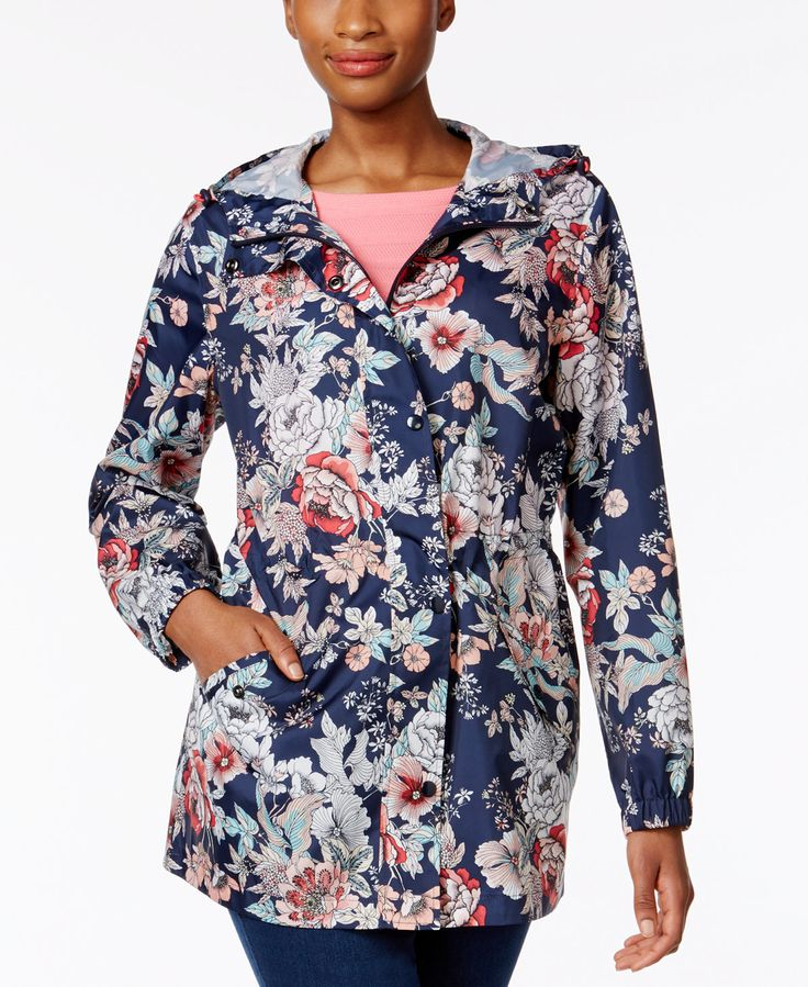 Charter Club Packable Rain Jacket, Only at Macy's - Jackets - Women - Macy's