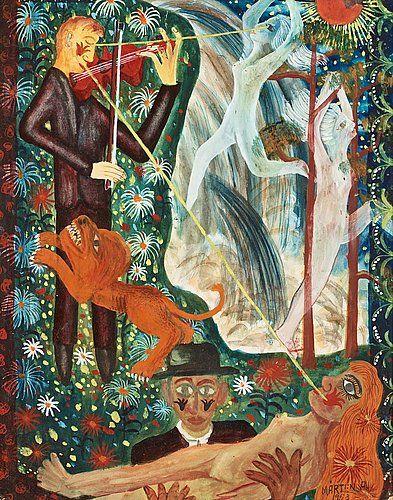 Mårten Andersson: Speleman, 1958, gouache och akvarell på papper, 33,5x26,5 cm…