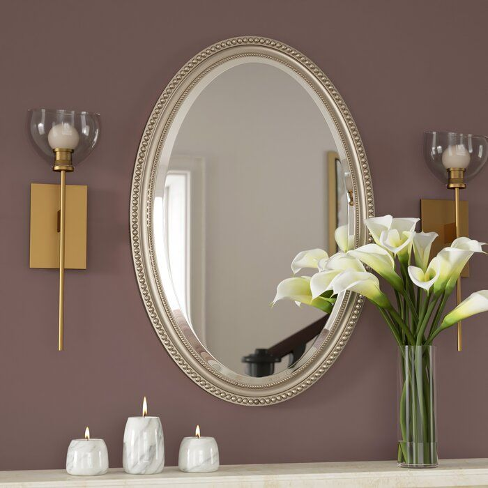 Rosdorf Park Oval Metallic Accent Mirror Reviews Wayfair Ca Accent Mirrors Contemporary Fireplace Metallic Accents