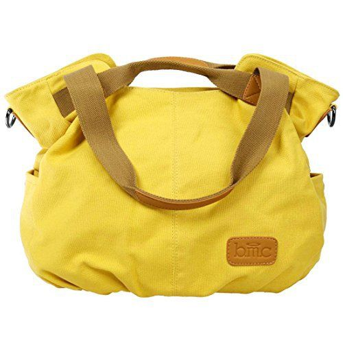 New Trending Shopper Bags: BMC Womens Sunshine Yellow Textured Canvas Double Top Handle Lightweight Shoulder Tote Travel Shopper Handbag. BMC Womens Sunshine Yellow Textured Canvas Double Top Handle Lightweight Shoulder Tote Travel Shopper Handbag  Special Offer: $15.99  344 Reviews This sunshine yellow, lightweight, double top handle handbag is perfect for everyday use. The bag is made of a durable canvas material. The...