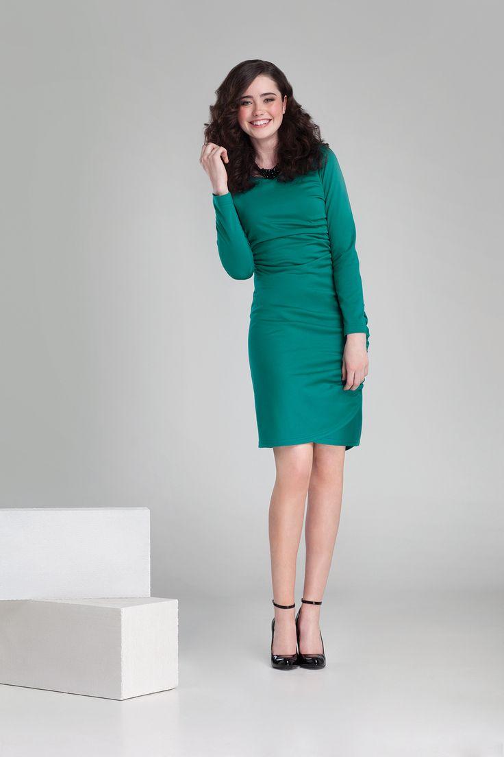 Nowa kolekcja #danhen #jesienzima2014 #fw2014 #fashion #sukienka #emeraldgreen