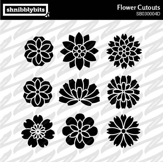 9 Flower Cutouts
