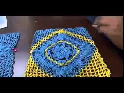 Parte2: Blusa em crochê de Grampo by Eliete Massi