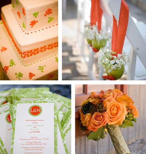 184 best orange and green wedding ideas images on pinterest