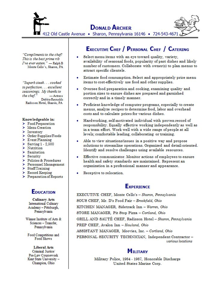 The 25+ best Chef resume ideas on Pinterest Cv design - Security Cover Letter Examples