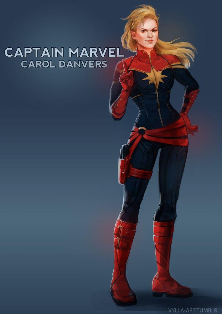 Carol Danvers: Captain Marvel - 15/46    http://vylla-art.tumblr.com/post/47267687619/carol-danvers-captain-marvel-15-46