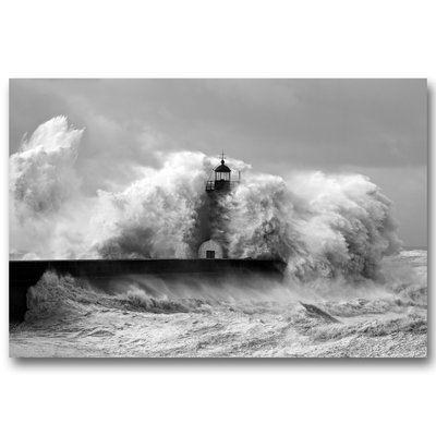 Benjamin Parker Galleries 'The Lighthouse Stands' Photographic Print on Canvas