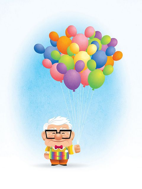 """""""I'd like to think of Carl Fredricksen living out his days selling balloons at Disneyland. I think they should have a walk around character like this!"""" - Jerrod Maruyama"""