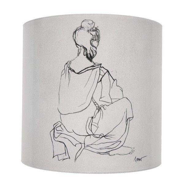Fan Light - N. Hadjikyriakos-Ghika: Portrait of Lady X, 1946.      Applied on glass     Dimensions: 10 x16 cm