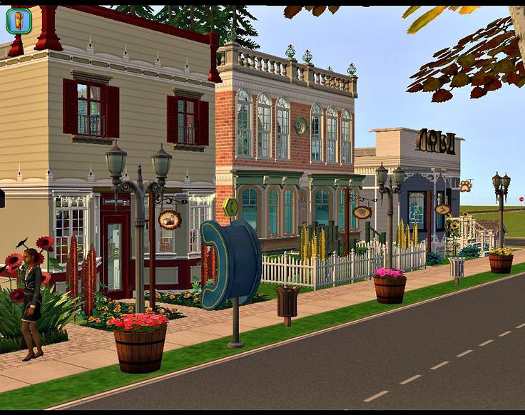 Mod The Sims - Yesteryears Restaurant and Shops